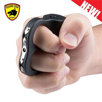 I Do Two LED Knuckle Stun Gun Black Self Defense Weapon Dual Sparks