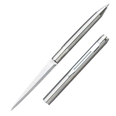 Silver Ink Pen Knife with Plain Edge