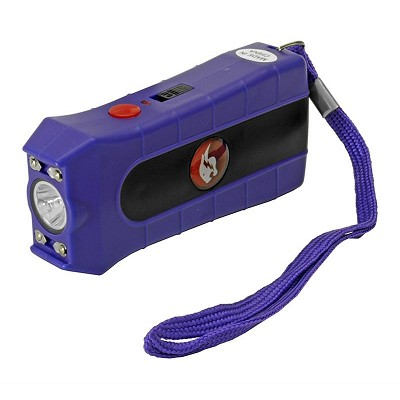 Purple Duo Max Power Stun Gun Double Shock With Removable Safety Pin