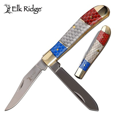 Elk Ridge Honeycomb Handle Trapper & Pen Blade Folding Knife