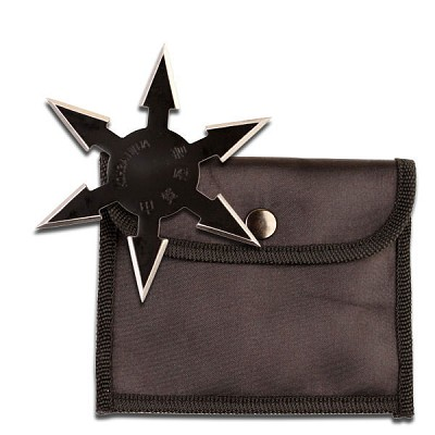 "4"" Sharp 6 point Throwing Star Shuriken Ninja Samurai Black Knife"