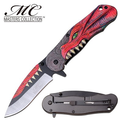 Pocket Knife Red Dragon Throne Assisted Opening Knife
