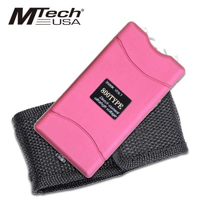 Mtech USA 3500K Volt Rechargeable Stun Gun with LED Light Purple