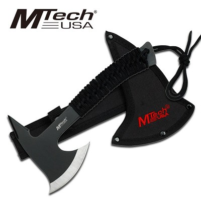 "9"" Mtech Full Tang Throwing Tomahawk Axe with Sheath"
