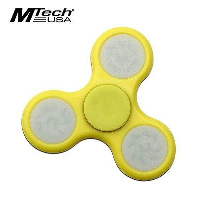 Mtech USA Hand Finger Spinner LED Light Fidget High Spped Yellow