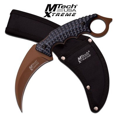 MTech Xtreme Fixed Blade Hunting Karambit Style Handle Knife