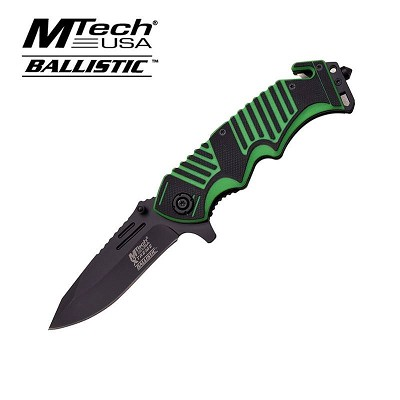 MTech Xtreme Spring Assisted  Knife 5 Inches With Green Handle