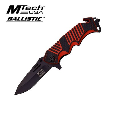 MTech Xtreme Spring Assisted Knife 5 Inches With Red G10 Handle