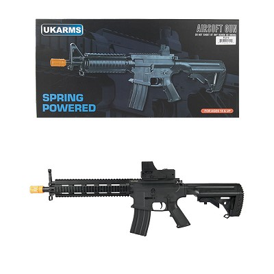 "P2219 10.5"" RIS Spring M4 Rifle with Mock Dot Sight FPS 210 w/ .20G BBs"