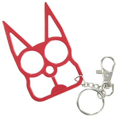 Cat Self Defensive Key Chain - Red
