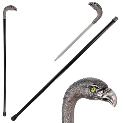 36.5 Inches Silver Eagle Head Luxury Cane Sword