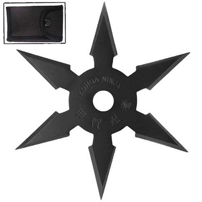 Secret Khoga Ninja Six Points Throwing Star Black