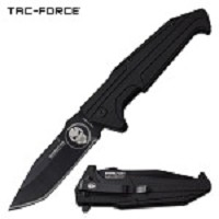 Tac Force Punisher Tanto Blade Pocket Knife Spring Assisted Black