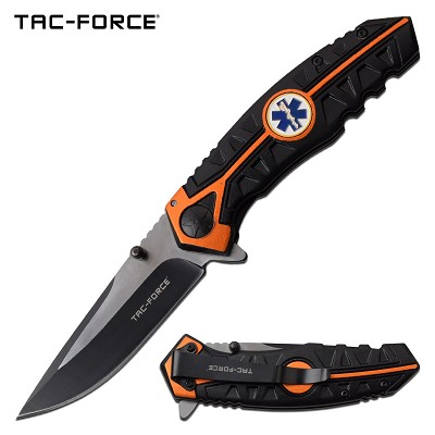 Tac Force Emergency Service Pocket Knife Spring Assisted