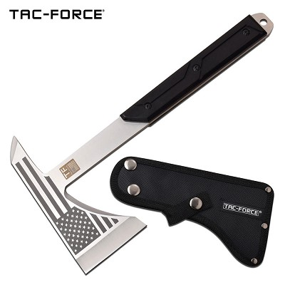 USA Flag Tactical Tomahawk Axe Full Tang Hatchet Satin