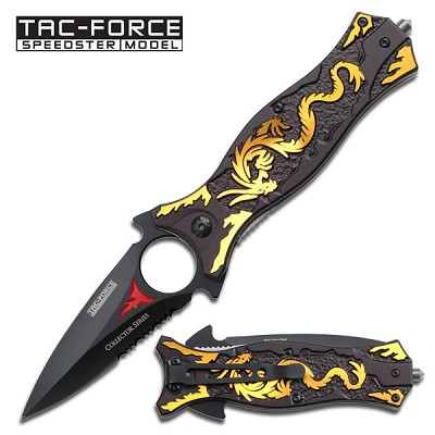 Spring Assist - Gold Dragon Knife - Spear & Spike Tactical