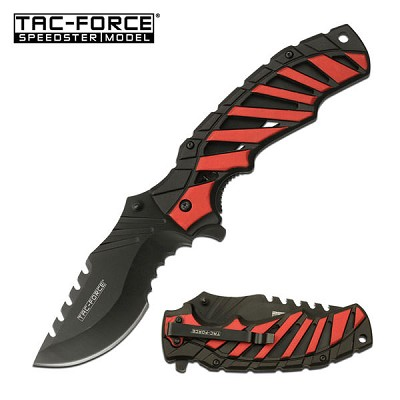 5 Inch Closed Tac Force Spring Assisted Knife Red