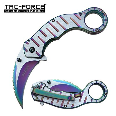 Spring Assisted EDC Tactical Folding Rescue Karambit Knife