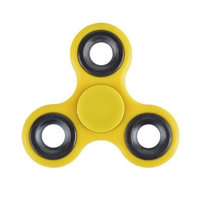 Stress Relief Hand Spinner and Spinning Tri Fidget High Speed Yellow