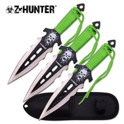 "7.5"" 3 Pcs Scary Skull Throwing Knife Set"