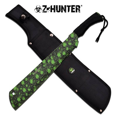 Z Hunter Classic Zombie Green And Black Handle Machete
