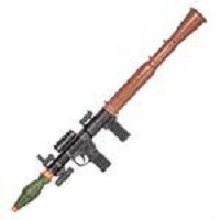 P16385A Dummy Bazooka RPG With Laser Spring Powered Airsoft 175 FPS