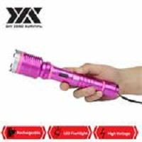 DZS Special Force Pink Tactical Metal Stun Gun Rechargeable LED Flashlight