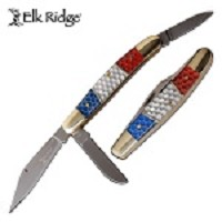 Elk Ridge Honeycomb Handle Stockman Pen Drop Point Blade Folding Knife