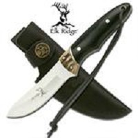 7.25 Inch Overall Jig bone and wood handle Hunting Knife