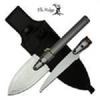 Elk Ridge Survival Multipurpose Outdoor Shovel Spear Saw