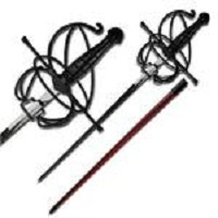 Rapier Fencing Sword With Red Scabbard