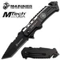 US Marines Tactical Rescue Pocket Folder Knife with Tanto Blade