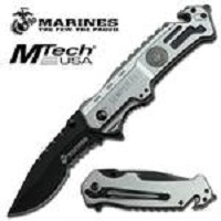 US Marines Tactical Rescue Spring Assisted Opening Knife