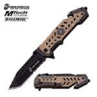 MTech USA Marines Tactical Spring Assisted Knife Desert Tan