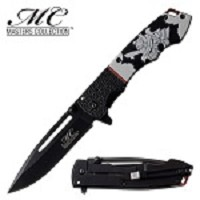 Masters Collection Spring Assisted Pocket Knife Samurai Handle