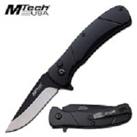 Mtech USA 6.75 Inch Manual Folding Pocket Knife Black