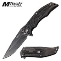 Mtech Knife Mechanical Gears Design Spring Assisted Knife Stonewash