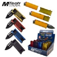 Mtech 12 Piece Pop Box Spring Assisted Knife Lighter Holder Money Clip