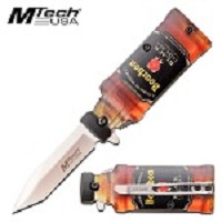 Pocket Knife Bourbon Bottle Design Spring Assisted Knife
