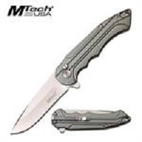 Regular Folding Pocket Knife with 3CR13 Steel Blade Grey Handle