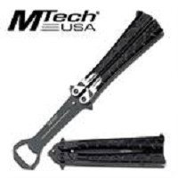 Silver Punisher Balisong Butterfly Bottle Opener