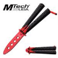 MTech USA 4.75 Inches Practice Blade Folder Red Dragon