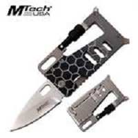 Wallet Style Folding Knife Multi Tool Tactical Survival EDC KIT