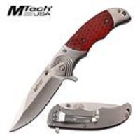 MTech USA Spring Assisted Folding C-TEK Scales Handle Stainless Steel Knife
