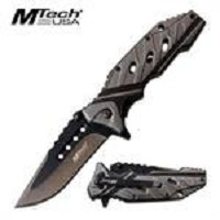 MTech USA Grey and Black Knife With Smart Aluminum Handle