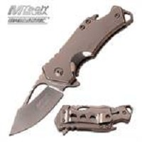 MTech USA Ballistic Bottle Opener Spring Assisted Knife Mirror Blade