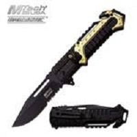 Green Aluminum Tactical Rescue Assisted Opening Knife