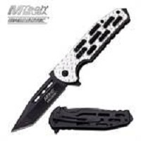 MTech Ballistic Frame Lock Spring Assisted Knife Silver Aluminum