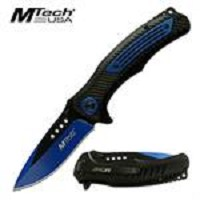 Mtech USA 2 Tone Spring Assisted Folding Pocket Knife Blue