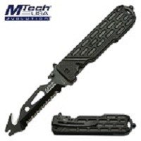 Mtech Spring Assisted Knife Tactical Knife with Bottle Opener Tool